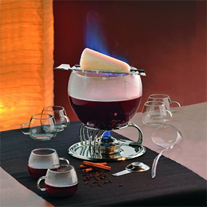 Kela Feuerzangenbowle Set in Aktion